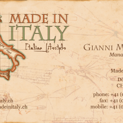 """Made In Italy"" business card"