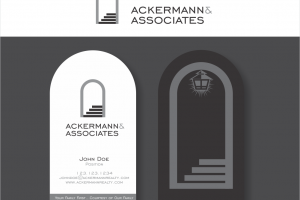 Arched Vertical Business Card